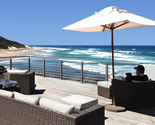 Morgan Bay Hotel Milkwood Spa Sonnendeck